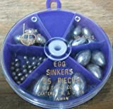 South Bend Assorted Egg Sinkers – 54 Pcs., Outdoor Stuffs