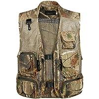 Gihuo Men's Camo Outdoor Fishing Travel Safari Mesh Vest...