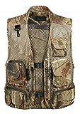 Gihuo Men's Camo Outdoor Fishing Travel Safari Mesh Vest Pockets