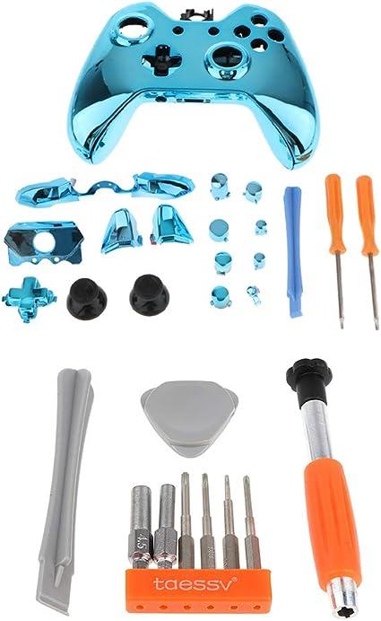 Shiwaki Estuche De Reemplazo del Kit De Carcasa Completa Azul Y Destornillador para Microsoft Xbox One: Amazon.es: Electrónica