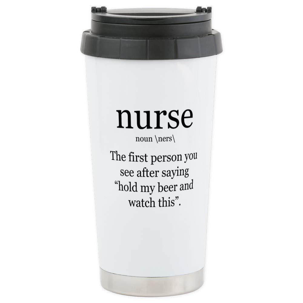 9f96104fe0 Amazon.com  CafePress nurse definition Travel Mug Stainless Steel Travel  Mug
