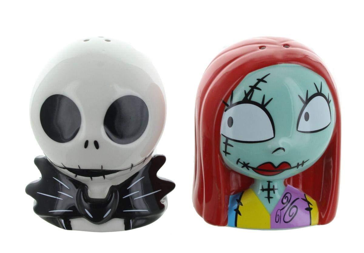 Amazon.com: Nightmare Before Christmas Jack & Sally Salt & Pepper ...