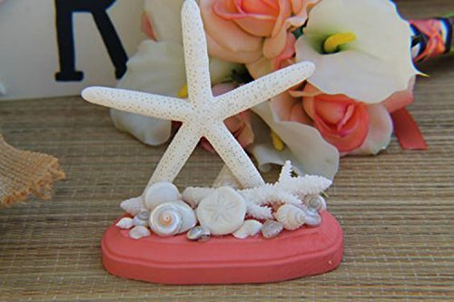 Amazon.com: Coral and Starfish Wedding Cake Topper For Beach ...