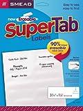 Smead Erasable SuperTab File Folder Labels, White, 160 labels per Pack (64917)
