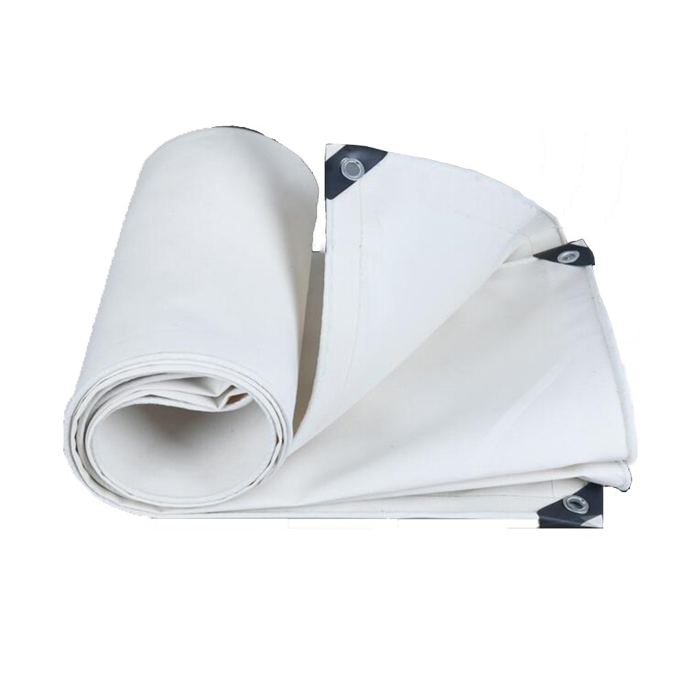 ZEMIN オーニング サンシェード ターポリン 防水 日焼け止め テント シート 防風 ルーフ 保護 絶縁 ポリエステル、 白、 500G/13サイズあり (色 : 白, サイズ さいず : 3X3M) B07D4FLRK4 3X3M|白 白 3X3M