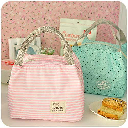 Amazon.com: Waterproof thermal bags Strip dot picnic lunch bag Lunch boxes for kids women men thermal insulation bolsa termica: Kitchen & Dining