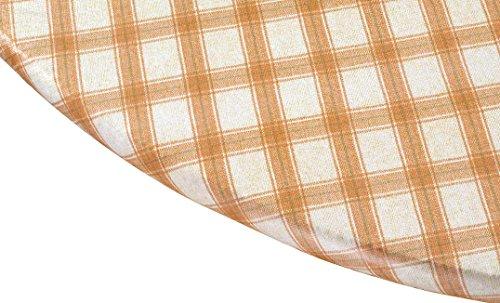 Plaid Elasticized Vinyl Table Cover by Miles Kimball