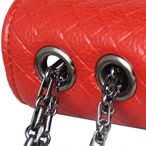 Femmes Y8l Épaule Grand Red 26 Sac 3 Logo Bébé À Petit Langer Motif y8l 17cm Une Fille 7 Python Chaîne cuir Leather Mode Crossbody 2019 Rose Pour Espace atqBzn