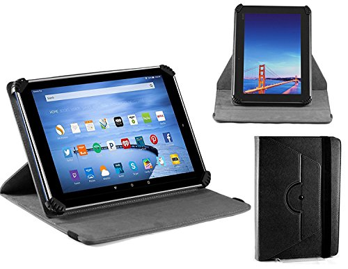 Leather Case Cover With 360 Rotational Stand For TheSoledpower 10.1 Inch Google Android 4.4 Kitkat Tablet ()