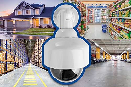 Fake Security Camera, Dummy Camera Dome Shaped Decoy Realistic Look Surveillance System + Bonus Warning Sticker Indoor/Outdoor Use, Perfect for Businesses & Shops- by Armo