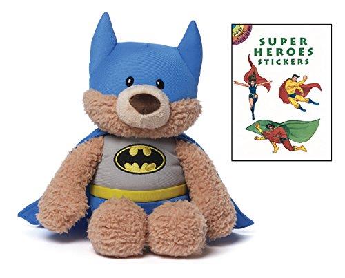 [Gund Batman Teddy Bear Plush Animal with Super Heroes Sticker Book] (Dog Grinch Costumes)