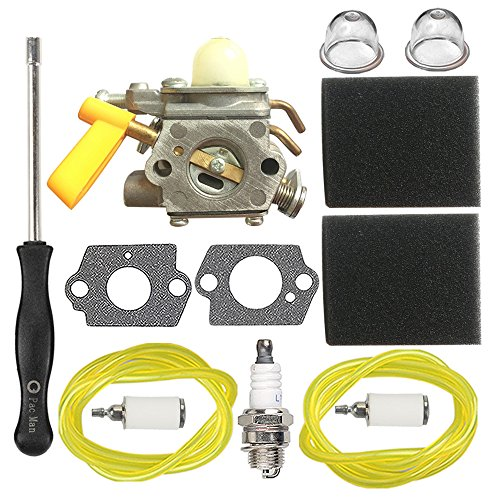 HIPA 308054004 Carburetor + 900952001 Air Filter Adjustment Tool for Ryobi RY30120 RY30140 RY30160 RY30220 RY30240 RY30260 RY30522 RY30542 RY30562 String Trimmer RY52014 RY52502 RY52903 Pole Pruner by HIPA