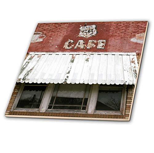 Danita Delimont–Route 66–Fachada De Un Cafe Abandonado, Litchfield, Illinois, Ee. Uu. Ruta 66–Azulejos