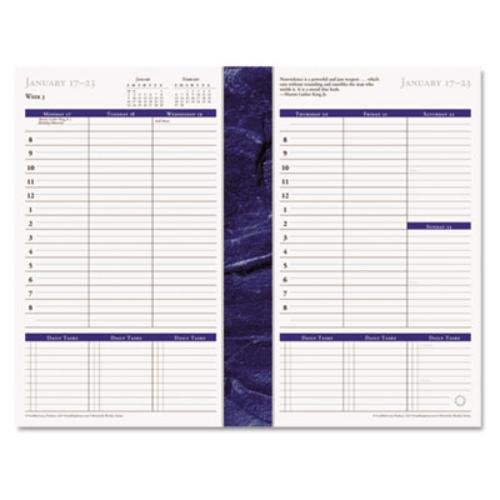 FranklinCovey - Monticello Dated Weekly/Monthly Planner Refill, 5 1/2 x 8 1/2, 2018 (Weekly Appointment Dated Refills)