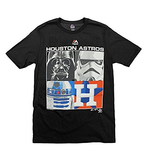 Majestic MLB Boys Youth Star Wars Main Character T-Shirt, Houston Astros, Small (8)