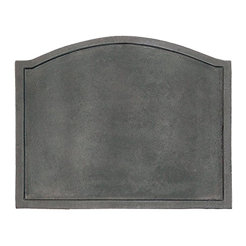Minuteman International Plain Design Cast Iron Fireback, Large Minuteman Fireback