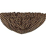 VHC Brands 20253 Navy Check Balloon Valance 60×15 For Sale