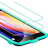 ESR iPhone 8 Plus/7 Plus Screen Protector, [2-Pack] Force Resistant Up to 22 Pounds Tempered Glass with Free Self-Installation Kit, Case Friendly for iPhone 8 Plus/7 Plus/6s Plus/6 Plus