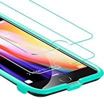 ESR Screen Protector for iPhone 8 Plus/7 Plus [2 Pack] [Free Installation Frame], iPhone 8 Plus Tempered Glass Screen Protector [Scratch Resistant] [Fingerprints Easy Wipe off] for Apple iPhone 6 Plus/6s Plus/7 Plus/8 Plus 5.5 inch 2017 Released