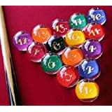"""Epco Premium Quality, American Made, Clear-Rocco Style Billiard or Pool Set, with 4.2oz, 2.25"""" diam balls"""