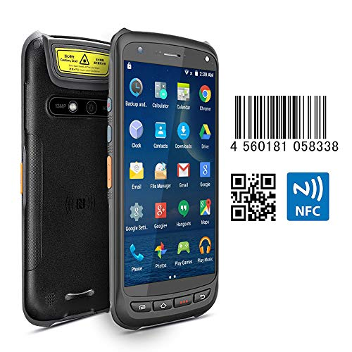 - Android Rugged Terminal NFC MUNBYN Industiral Moblie PDA with 2D QR Zebra Barcode Scanner with 4G WiFi GPS BT Wireless Data Collector Support Loyverse POS Software, WMS