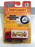matchbox red big top circus volvo container truck moving parts 23 1991 die cast metal