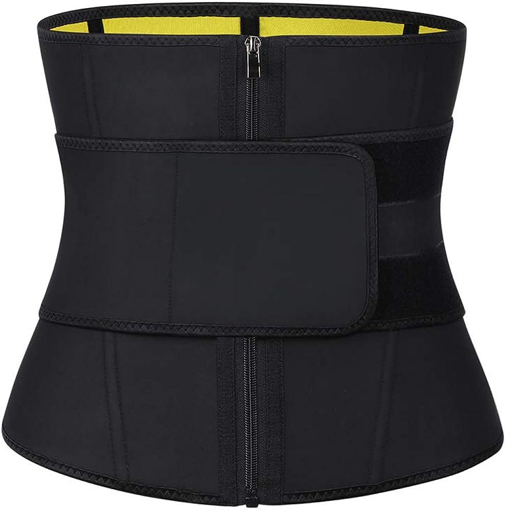 DANALA Men Waist Trainer Corset Fat Burner Sweat Trimmer Belt Workout Stomach Girdle for Weight Loss