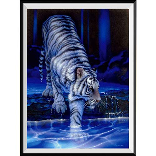 Move on 5D Diamond Painting Kits for Adults DIY Wolf Tiger Horse Cat Leopard Paint with Diamonds Partial Drill Q1022 -