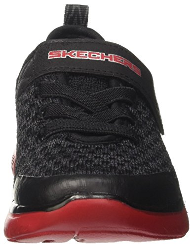 Skechers Flex Advantage 2.0-Quick Jolt, Zapatillas Para Niños Negro (Black/grey/red)