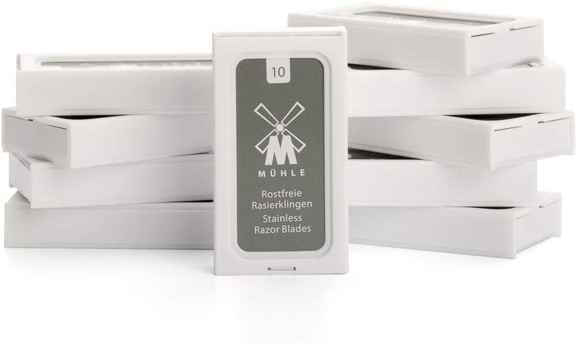 MÜHLE - Cuchillas de afeitar de doble filo (20 paquetes de 10 fundas)