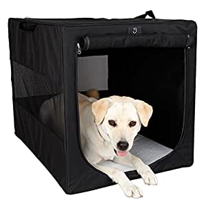 "A4Pet 36"" Collapsible Soft Large Dog Crate for Large Dogs Up to 70 Pounds"