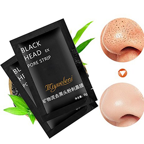 Little Story  2Pcs Blackhead Remover Black Mud Deep Cleansing Purifying Peel Acne Face Mask -