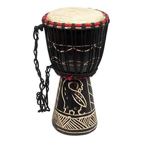 - NOVICA MIU0015 Revival' Wood Mini-Djembe Drum
