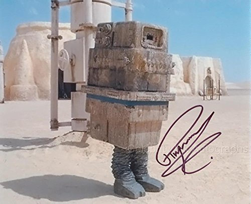 RAYMOND GRIFFITHS as a GONK Droid - Star Wars: Episode One - The Phantom Menace GENUINE AUTOGRAPH