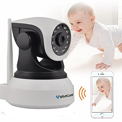 VSTARCAM C7824WIP P2P HD 720P Wireless WiFi IP Camera Night Vision Two-Way Voice Network Indoor CCTV Onvif Multi-Stream Baby Monitor Mobile Phone Remote Monitoring (Maximum Support 128G TF Card)
