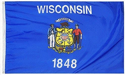 State of Wisconsin WI 4x6 Foot Flag Banner (Heavy Duty 150D Super Polyester)]()