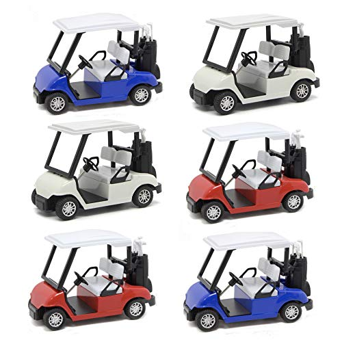 - Liberty Imports 6 Pack Die-cast Metal Golf Cart Model Toy 1:20 Scale Vehicle (4½ Inches)