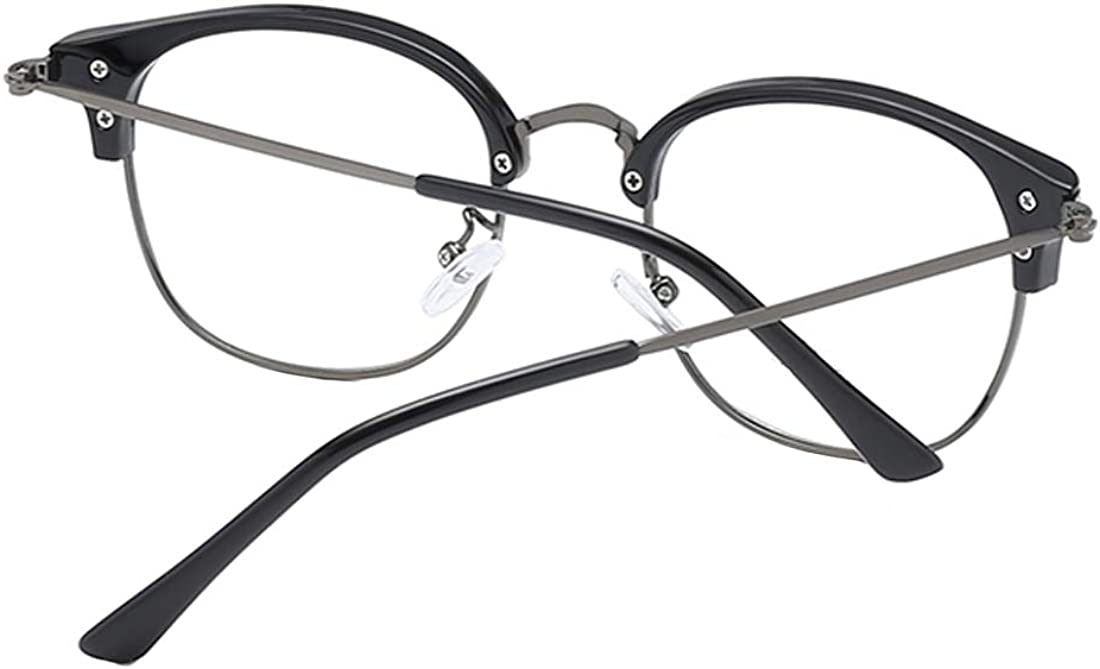 MU CHAOHAI Unisex Ovaler Halber Rahmen Retro Metall Kurzsichtige Brille Kunststofflinsen Komfortabel Gl/äser-0,5-1,0-1,5-2,0-2,5-3,0-3,5-4,0-4,5-5,0-5,5-6,0