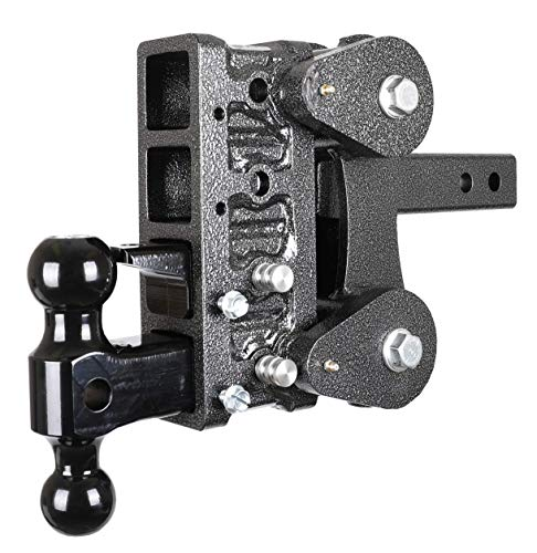GenY 304,Drop Hitch,Dual Receiver,Adjustable 2 Solid Shaft,Dual Receiver Hitch,drop//raise 7.5,with two 5//8Pins Hitch Only Adjustable 2 Solid Shaft drop//raise 7.5 with two 5//8Pins Hitch Only GEN-Y Hitch GH-304