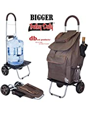 Bigger Trolley Dolly, Brown Shopping Grocery Foldable Cart