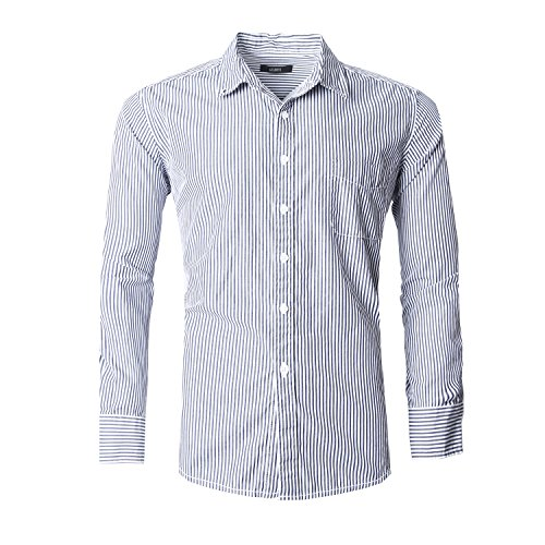 Button Down Striped Dress Shirt - 8
