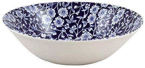 Burleigh Dark Blue Calico Cereal Or Dessert Bowl 16 Cm Blue