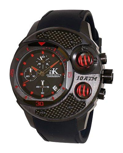 Adee Kaye Men's AK8002-MIPB/RED Commando Sports Chronograph Watch