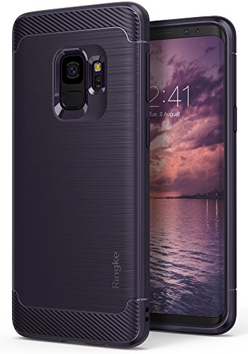 Galaxy S9 Case, Ringke [Onyx] Brushed Metal Design [Flexible & Slim] Dynamic...