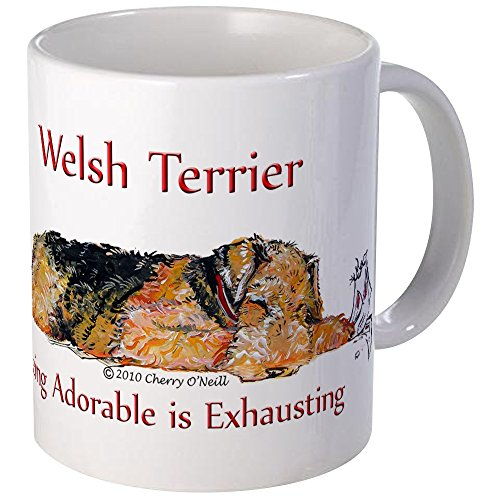 CafePress Exhausted Welsh Terrier Mug Unique Coffee Mug, Coffee Cup