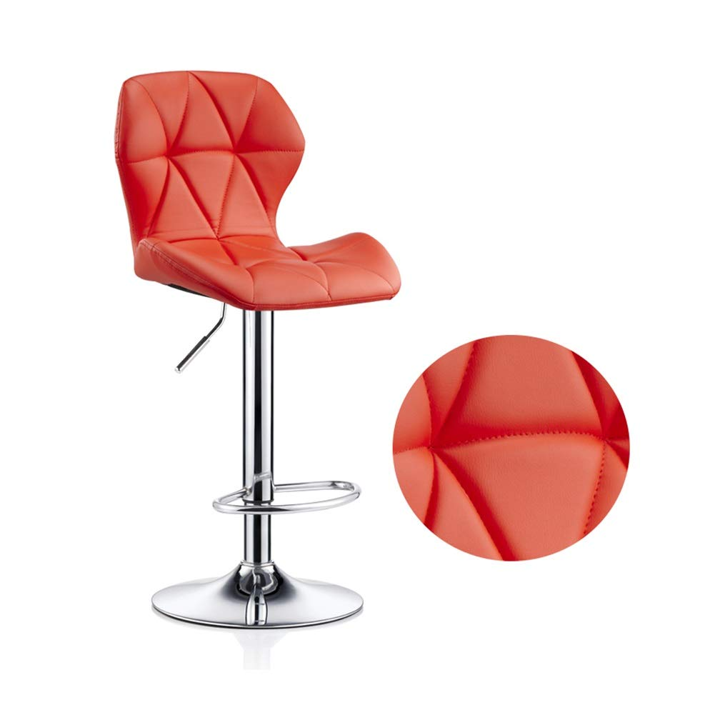 C Large Beauty Stool Bar Chair High Foot Leisure Swivel Seat Can Be Lifted Front Desk Reception Non-Slip Metal Nail Makeup Stool (color   I, Size   S)
