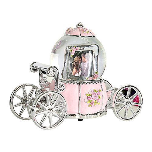 NON ROCK Pumpkin Car Frame Box Music Box Water Globe Crystal Ball with Music of Castle in the Sky