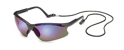 498de26eb94c Gateway Safety 16GB9M Scorpion Adjustable Safety Glasses, Blue Mirror Lens,  Black Frame