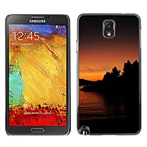 LECELL--Funda protectora / Cubierta / Piel For Samsung Note 3 N9000 -- Lago Sunset --