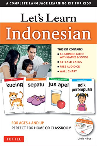 Let's Learn Indonesian Kit: A Complete Language Learning Kit for Kids (64 Flashcards, Audio CD, Games & Songs, Learning Guide and Wall Chart) by TUTTLE